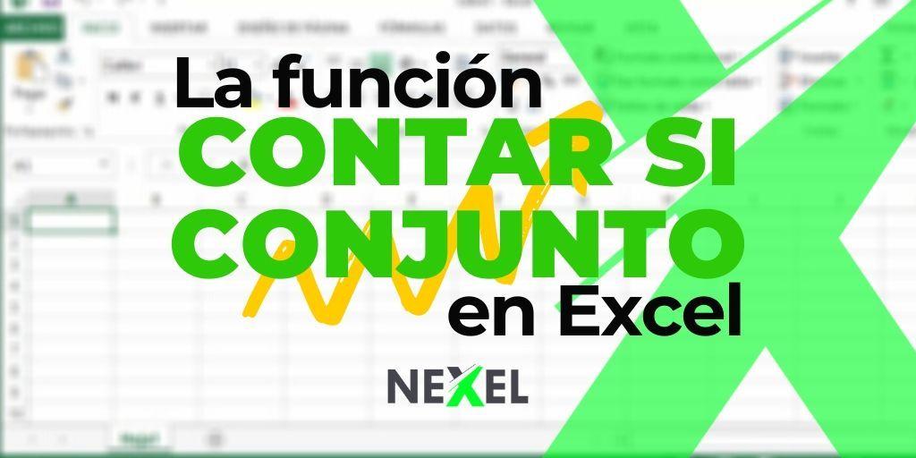 Función CONTAR SI CONJUNTO en Excel
