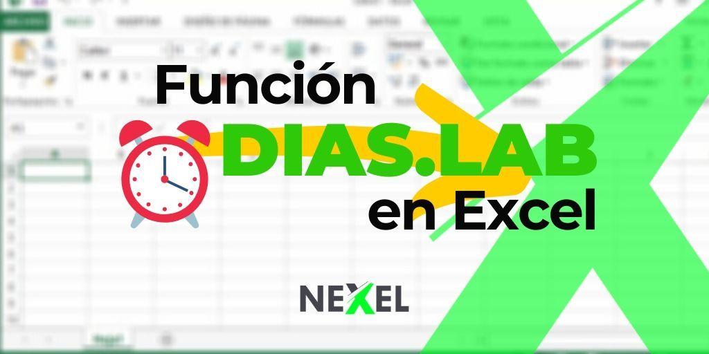 Función DIAS LAB en Excel