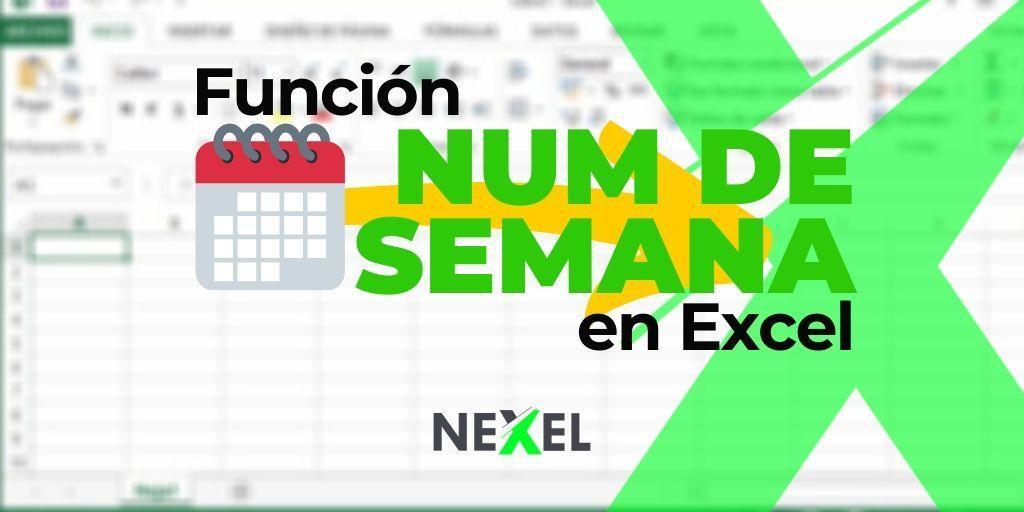 Función NUM.DE.SEMANA en Excel