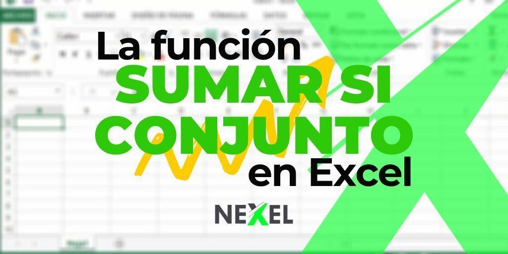 Función SUMAR SI CONJUNTO en Excel