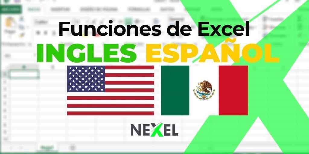 Funciones de Excel en INGLES / ESPAÑOL