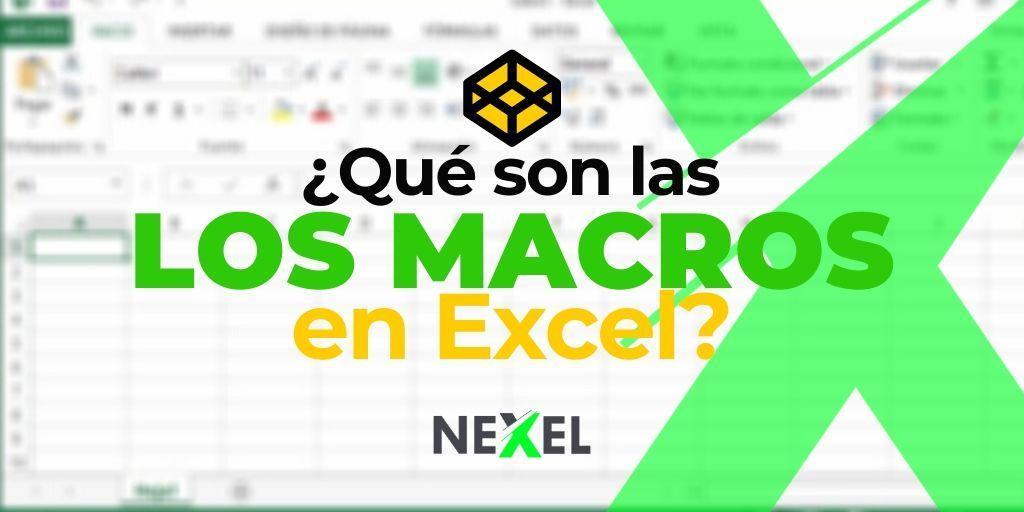 ¿Qué son las macros de Excel 2016?
